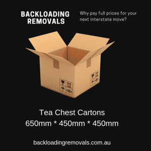 size of tea chest boxes